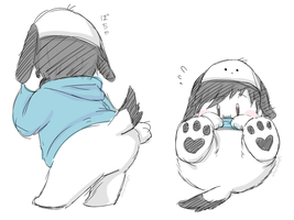 fluffy butt by Pochayuuris