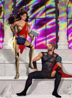 WORTHY (Wonder Woman and Thor) by MeTaa