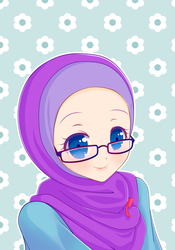 Girl with hijab by sangpendosa