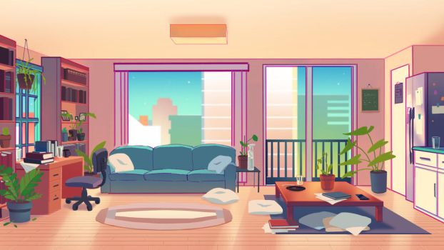 living room background for the chime animation by HJeojeo