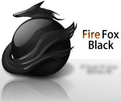 FireFox Black Dock Icon by grebtech