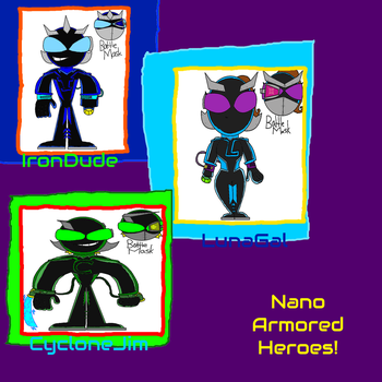 Nano Armored Heroes! by 3dmarioworld