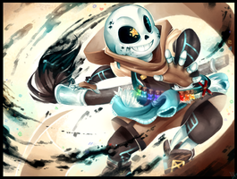 Ink!Sans!!!! - Commission by WalkingMelonsAAA