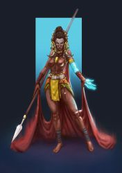 Character design challenge #1: African Tribes by Vangega
