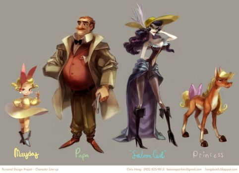 A Western Story - Character Lineup by kimchii