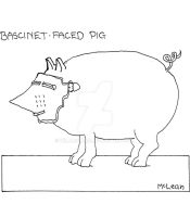 Bascinet Faced Pig by WillMcLean