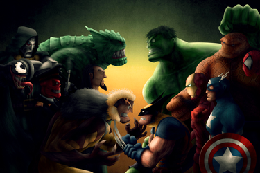 A Group of Marvel characters by Adrianstorm