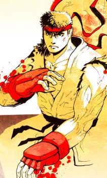 RYU doodles capcom by WyntonRed