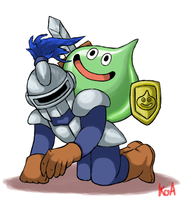 Slime Knight is now Knight Slime by KingofAnime-KoA