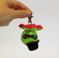 Tiny green gentleman octopus keychain by jaynedanger