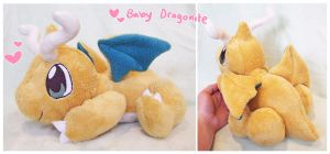 Baby Dragonite floppy plush by scilk