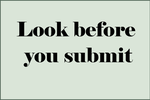 Look before you submit by inidis