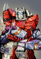 Transformers G1: Scattershot Vs Hun Grrr by Clu-art