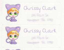 NEW Mailing labels by clrkrex