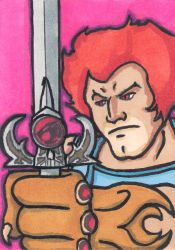 Lion-O Thundercats Sketch Card by whipsmartbanky