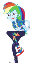 MLP EG Vector - Rainbow Dash by ilaria122
