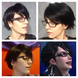 Bayonetta 2 - wig/make up trial 2.0 by JudyHelsing