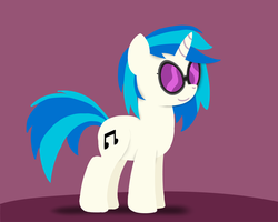 Paper-like Vinyl Scratch by postcactus