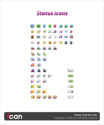 mobile status icon by iCanUI
