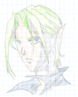 Green haired elf by thehitmanzack