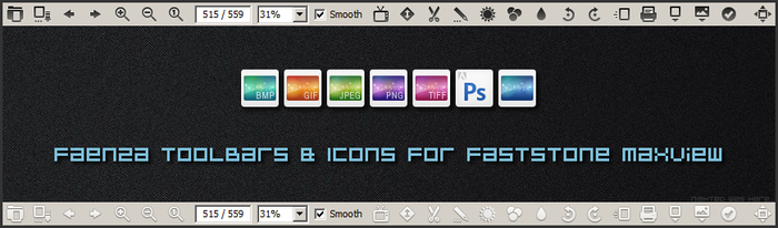 Faenza Toolbar and Icons for FastStone MaxView by Nighted