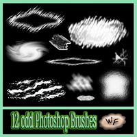 12 Odd Photoshop Brushes by WebFoot