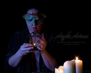 Luna Moth Mask II (featuring Lady Skygge) by Angelic-Artisan