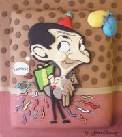 Mr Bean Cake by ginas-cakes