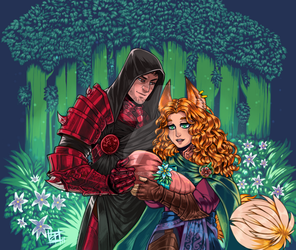 Commission: DND couple by TheLizAngel