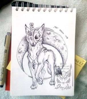 Prize: Coyote tattoo design by Drerika