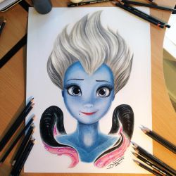 Ursula Color Pencil Drawing by AtomiccircuS