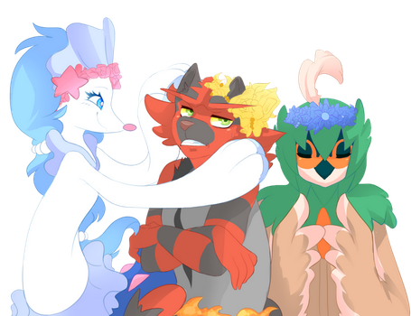 Flower crown hell by Ivory-Luxray