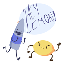 EY LEMON WHATCHA DOIN? by 123abcdrawwithme