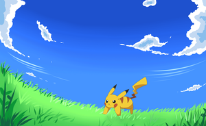 Pikachu use iron tail! by LunarThunderStorm