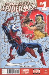 Amazing Spiderman Sketch Cover by dino-damage