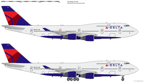 Boeing 747-400 Delta by o484