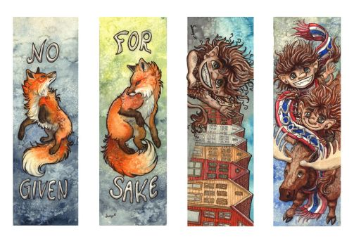 foxes and trolls by Sunima
