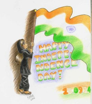 HAPPY INDIA INDEPENDENCE DAY 2014 by SugarBubbles2000