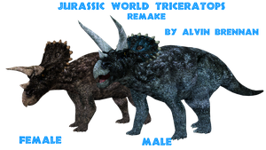 Triceratops Jurassic World Remake by GorgonGorgosaurus