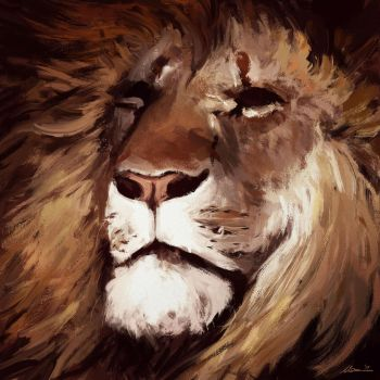 Lion-sketch-123 by MatteoAscente