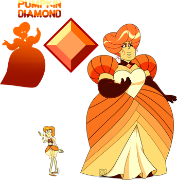 the diamonds pin of diamond a one fancy is pumpkin most vivid famous orange