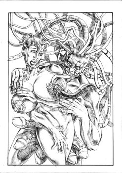 Cover for a Comic Being Drawn by Boyann