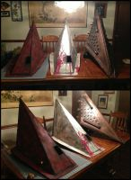 All of my Silent Hill Pyramid Helmets by Rising-Darkness-Cos