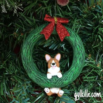 Corgi Wreath by gylkille