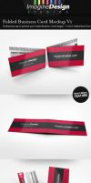 Folded Business Card Mockup V1 by idesignstudio