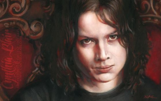 Jack White portrait detail by Cynthia-Blair
