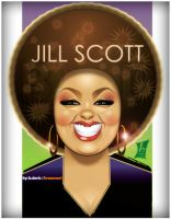 Jill Scott by braeonArt