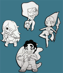 Steven Universe and the Crystal Gems by CrystalStarSpirit