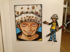 One Piece Character #18. Trafalgar Law (redone) by MagicPearls