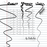 Curled Marker Lines Brushes by DieheArt
